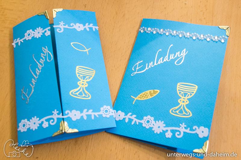 Einladungskarten basteln mit folia