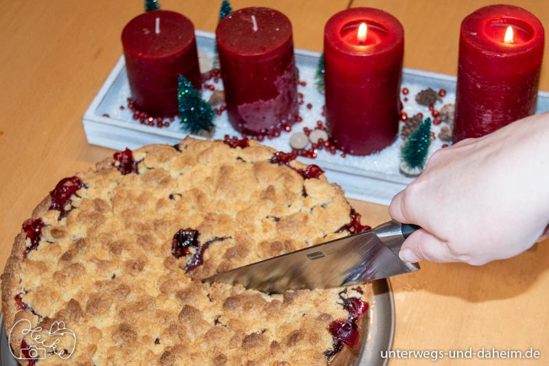 Histaminarmer Granatapfel-Apfel-Kuchen mit Tescoma Helfer