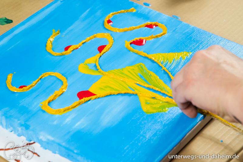 Individuelle Kunst, schnell und einfach mit den Pouring Farben von Just4Art
