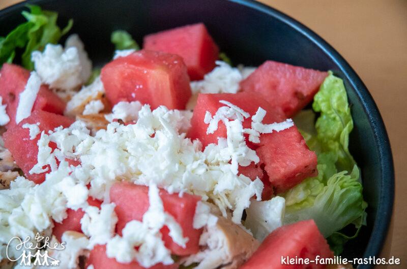 Salat mit Melone und Feta, ganz einfach und sicher mit Tescoma